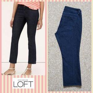 LOFT curvy kick cropped jeans sz 29P/8P